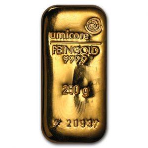250 gram umicore goudbaar goud kopen goudprijs
