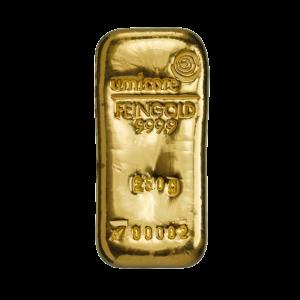 Umicore 250 gram goudbaar