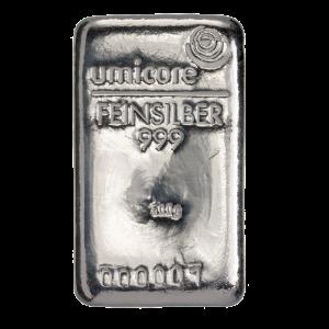 Umicore 500 gram zilverbaar