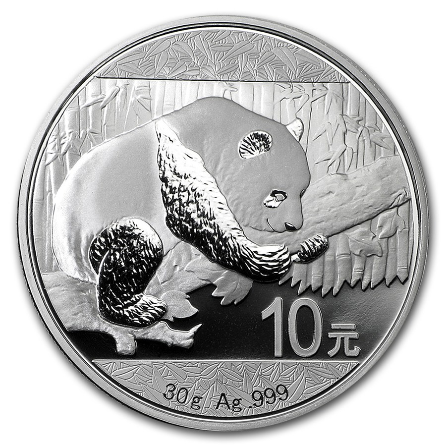 Panda 30 gram zilveren munt 2016