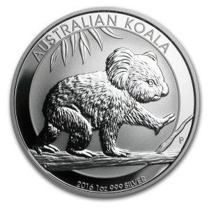 Koala 1 troy ounce zilveren munt 2016