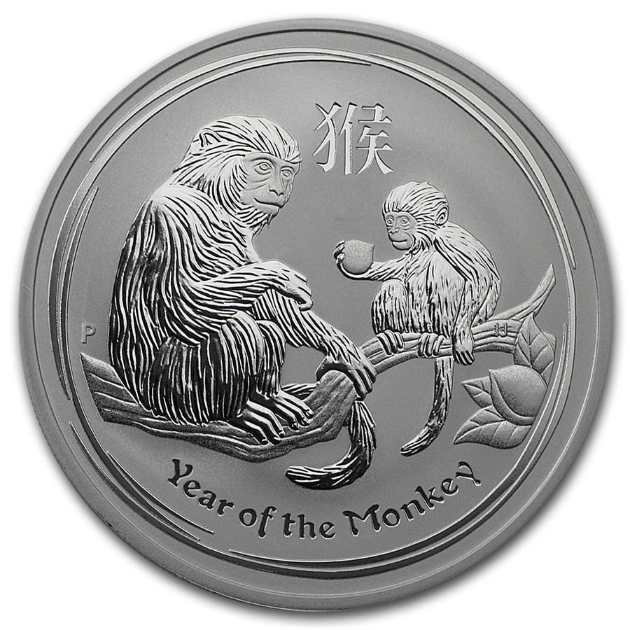 Lunar Aap 1 troy ounce zilveren munt 2016