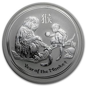 Lunar Aap 2 troy ounce zilveren munt 2016