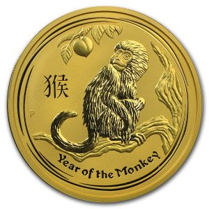 Lunar Aap 2 troy ounce gouden munt 2016