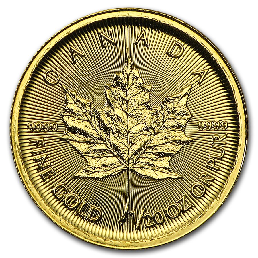 Maple Leaf 1/20 troy ounce gouden munt 2016