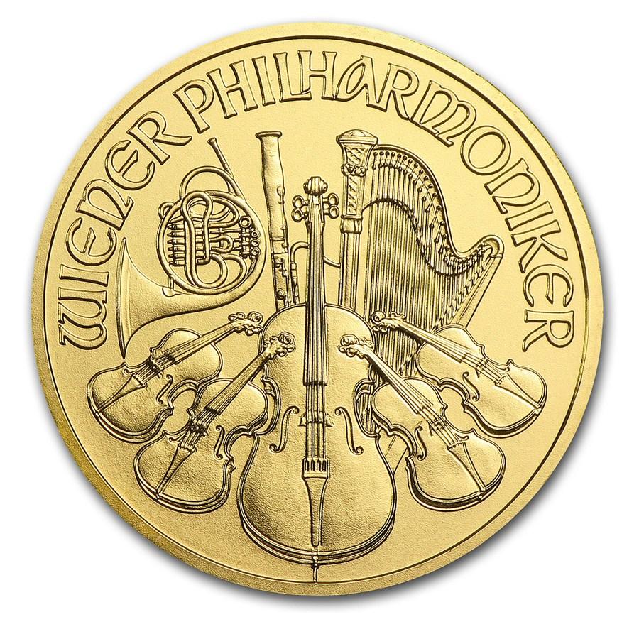 Wiener Philharmoniker 1 troy ounce gouden munt