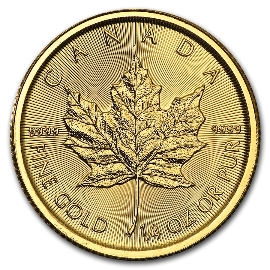 Maple Leaf 1/4 troy ounce gouden munt 2017