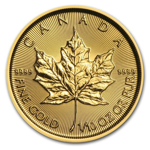 Maple Leaf 1/10 troy ounce gouden munt 2017