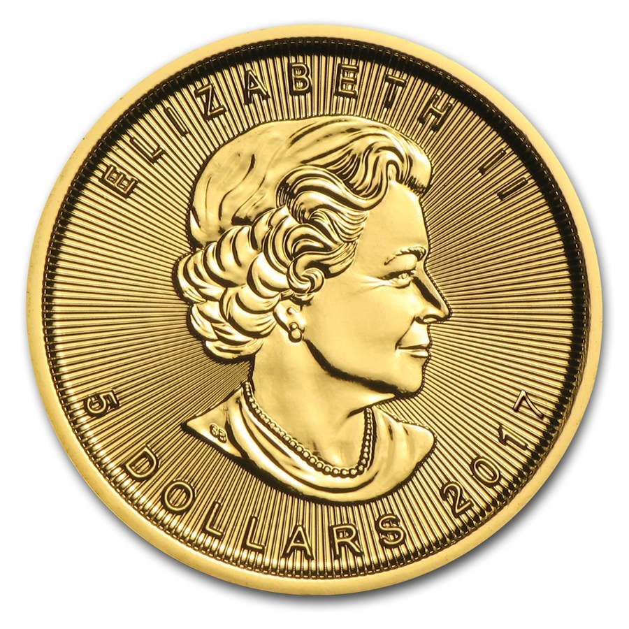 Maple Leaf 1/20 troy ounce gouden munt 2016