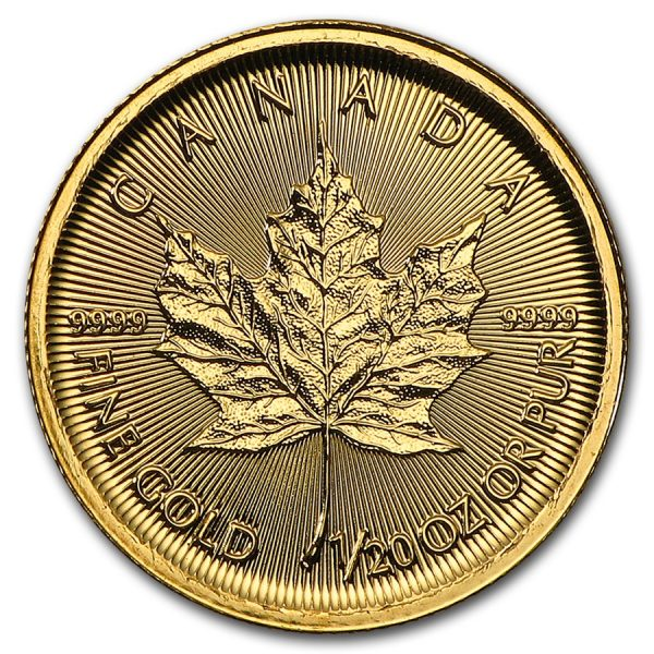 maple leaf 1/20 oz 2017 back