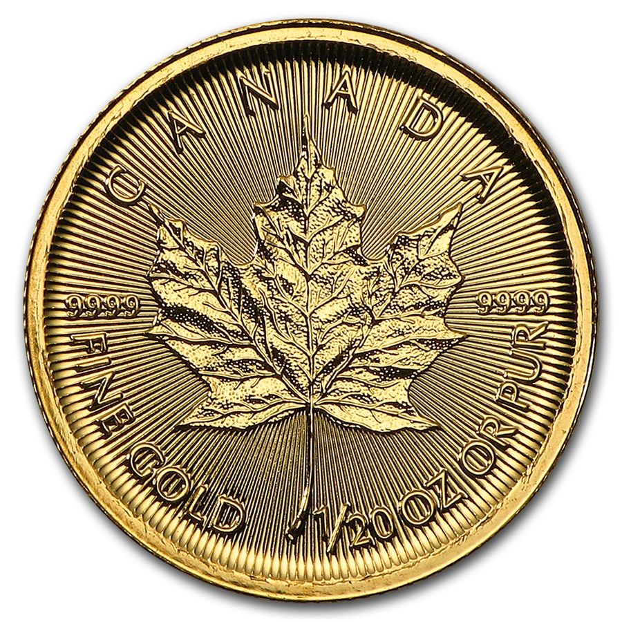 Maple Leaf 1/20 troy ounce gouden munt 2017
