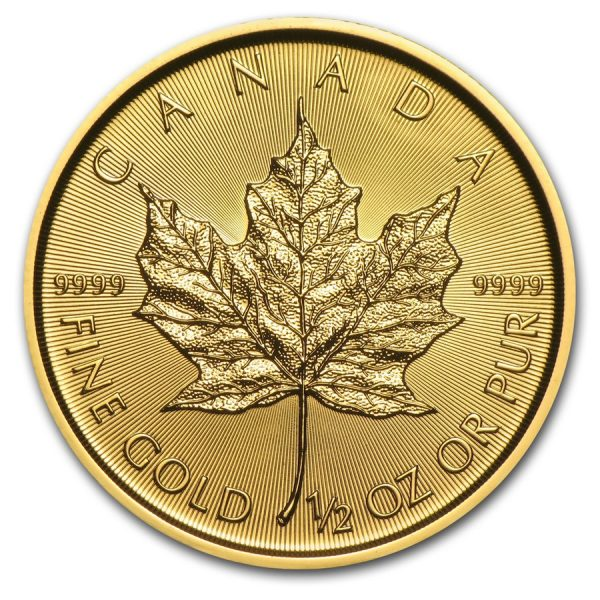 Maple Leaf 1/2 troy ounce gouden munt 2020