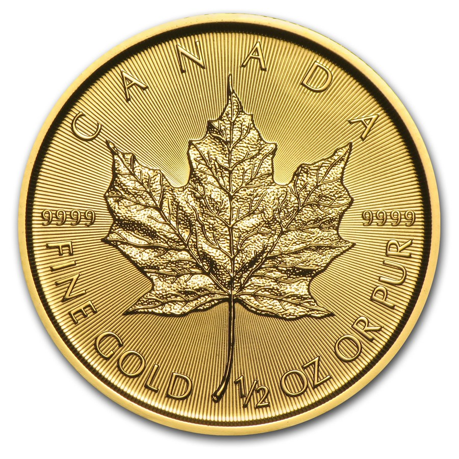 Maple Leaf 1/2 troy ounce gouden munt 2018