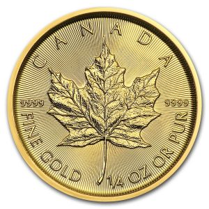 Maple Leaf 1/4 troy ounce gouden munt 2018