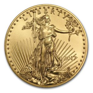 American Eagle 1 troy ounce gouden munt 2017