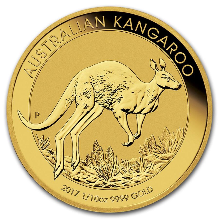 Kangaroo 1/10 troy ounce gouden munt 2017