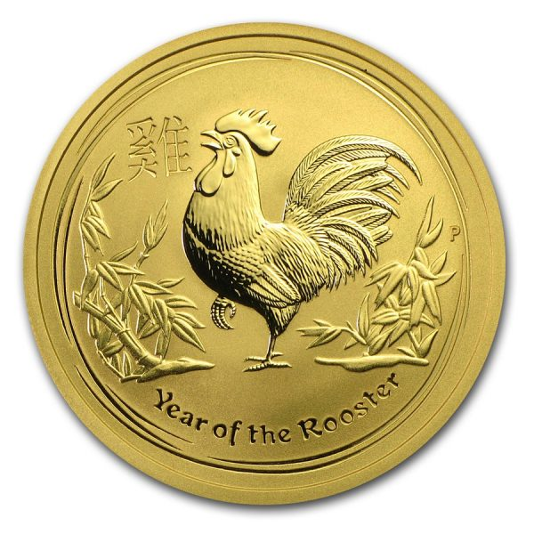 Lunar Haan 1/2 troy ounce gouden munt 2017