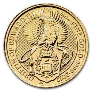 Queens Beast Griffin 1/4 troy ounce gouden munt
