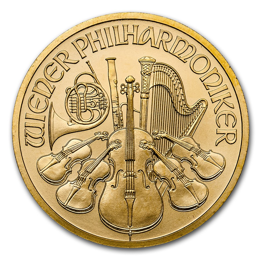 Philharmoniker 1/2 troy ounce gouden munt 2017