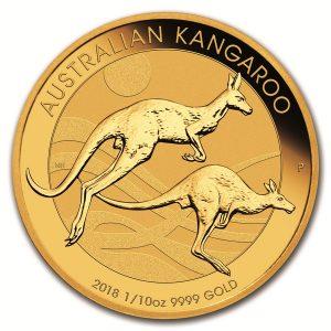 Kangaroo 1/10 troy ounce gouden munt 2018