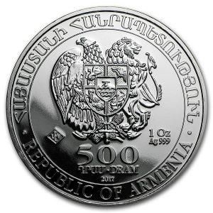 noahs ark 2017 1 oz zilver 2