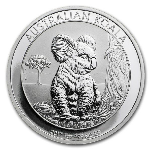 Koala 1 troy ounce zilveren munt 2017