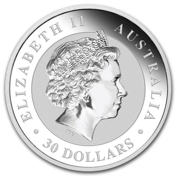 Kookaburra 1 kilo zilver 2017 3
