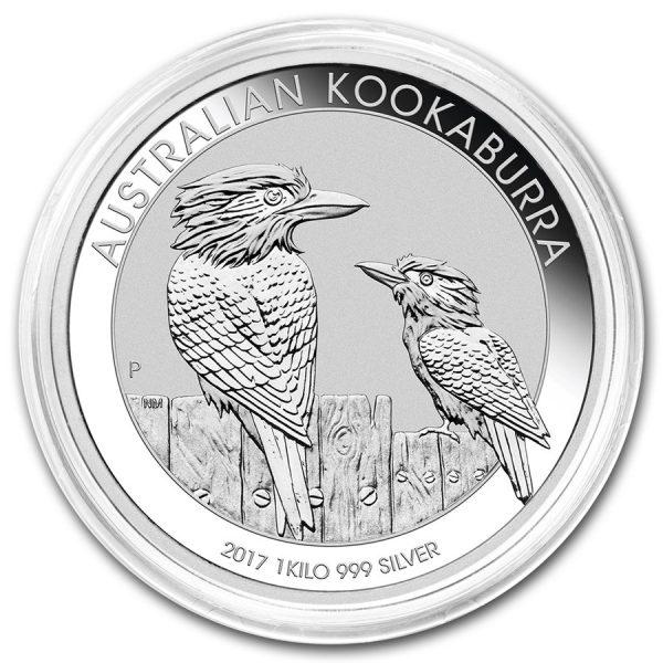 Kookaburra 1 kilo zilver 2017 2