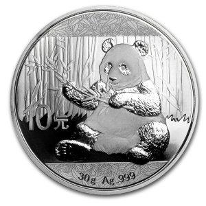 Panda 30 gram zilveren munt 2017
