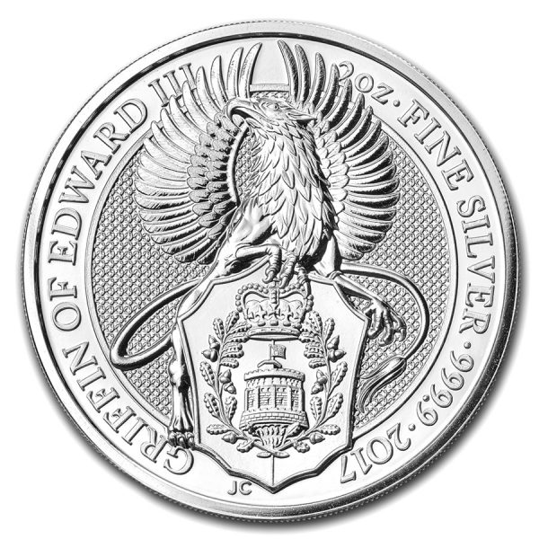 queens beast 2017 2 oz zilver 1
