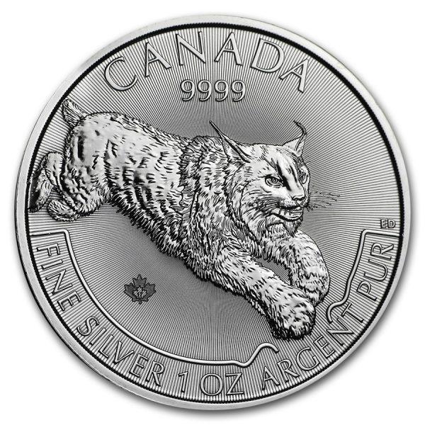 Lynx 1 troy ounce zilveren munt 2017