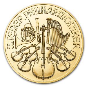 Philharmoniker 1/4 troy ounce gouden munt 2018