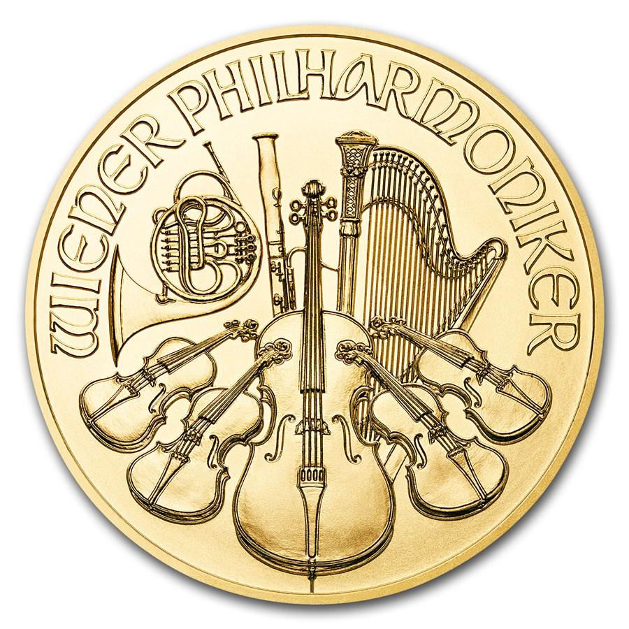 Philharmoniker 1/25 troy ounce gouden munt 2018
