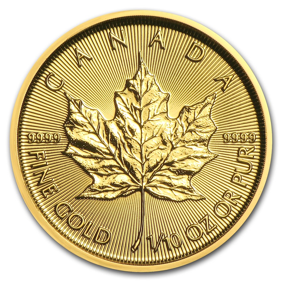 Maple Leaf 1/10 troy ounce gouden munt 2018