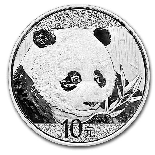 Panda 30 gram zilveren munt 2018