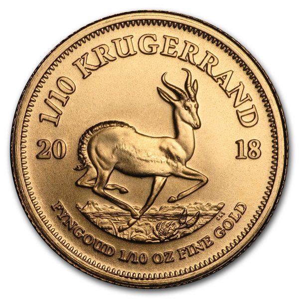 Krugerrand 1/10 troy ounce gouden munt 2018