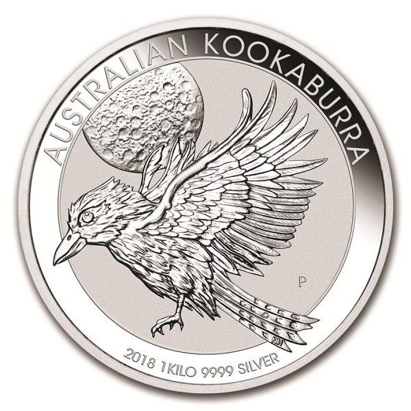 Kookaburra 1 kilo zilveren munt 2018