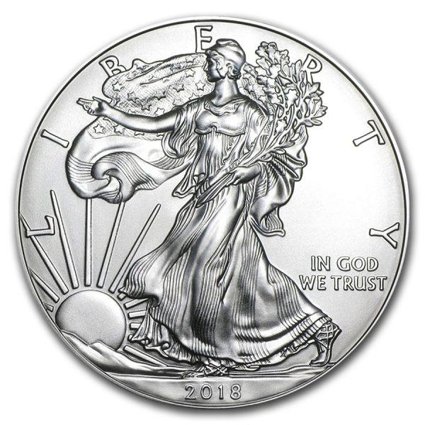 American Eagle 1 troy ounce zilveren munt 2018