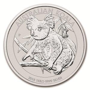 Koala 1 troy ounce zilveren munt 2018