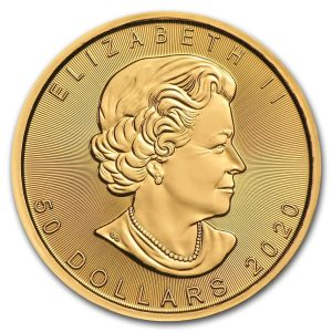 Maple Leaf 1 troy ounce gouden munt 2020