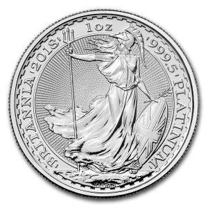 Britannia 1 troy ounce platina munt 2018