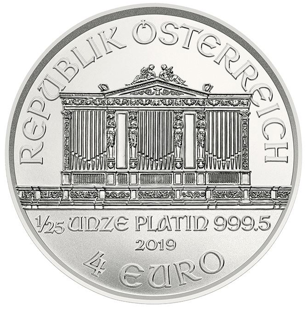 Philharmoniker 1 troy ounce platina munt