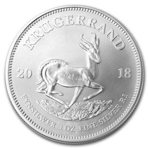 Krugerrand 1 troy ounce zilveren munt 2018