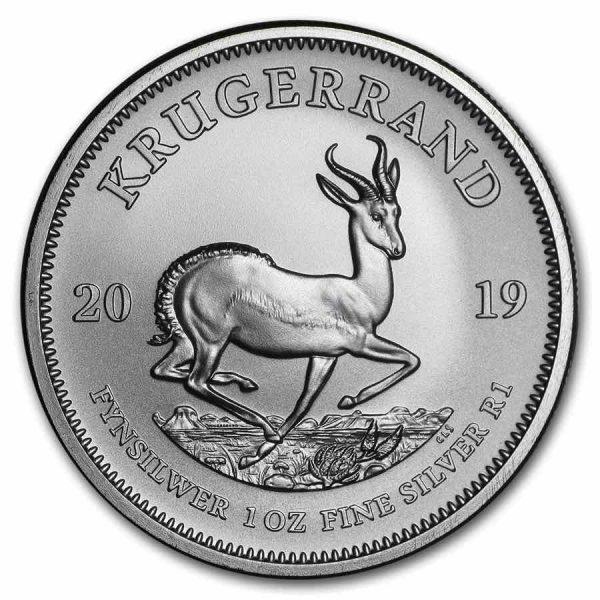 Krugerrand 1 troy ounce zilveren munt 2019 2