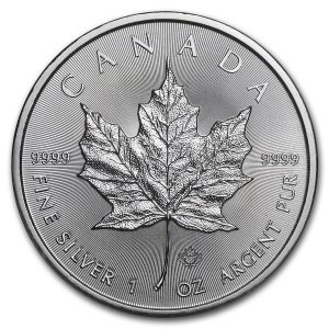 Maple Leaf 1 troy ounce zilveren munt 2019
