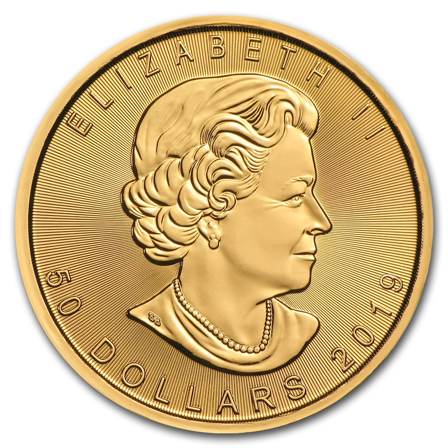 Maple Leaf 1 troy ounce gouden munt 2019