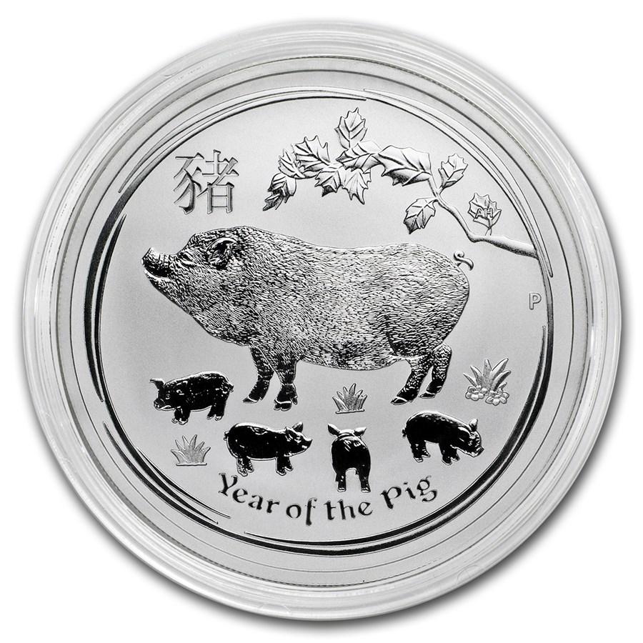 Lunar Varken 1 kilo zilveren munt 2019