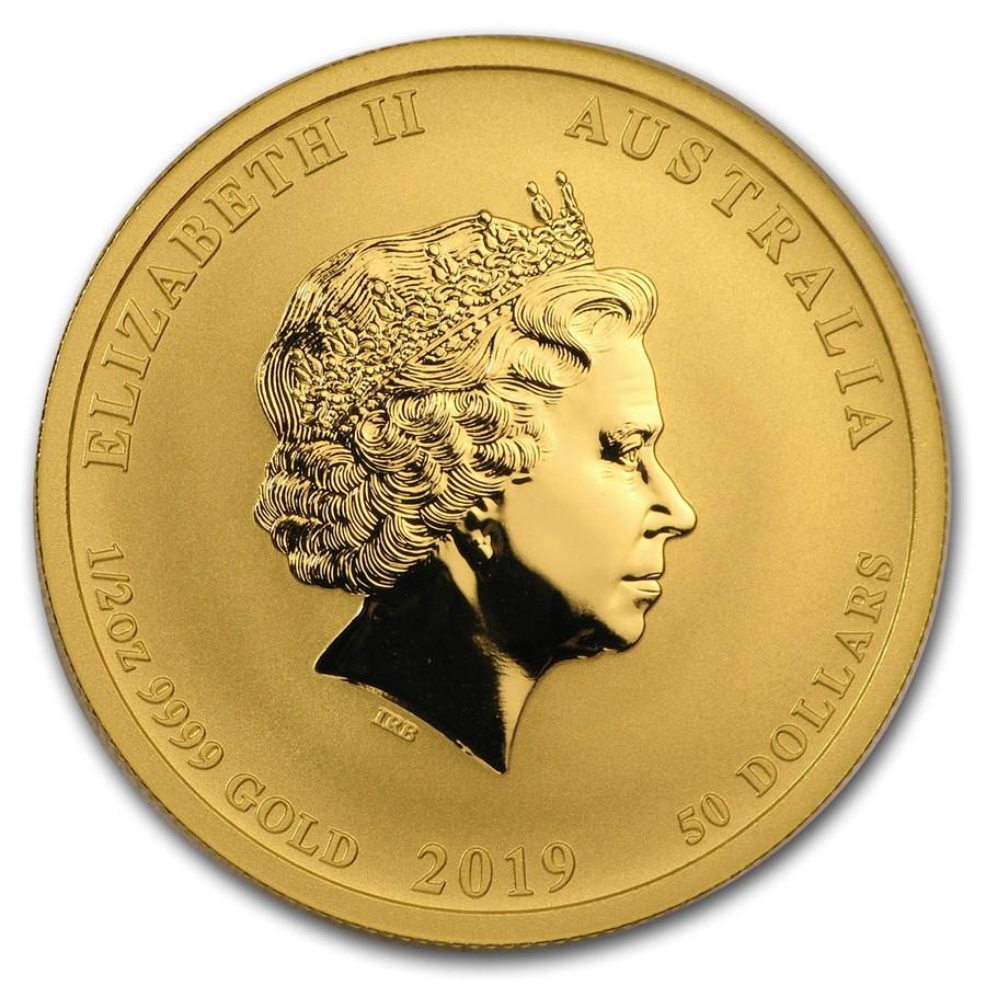 Lunar Pig 1/2 troy ounce gouden munt 2019