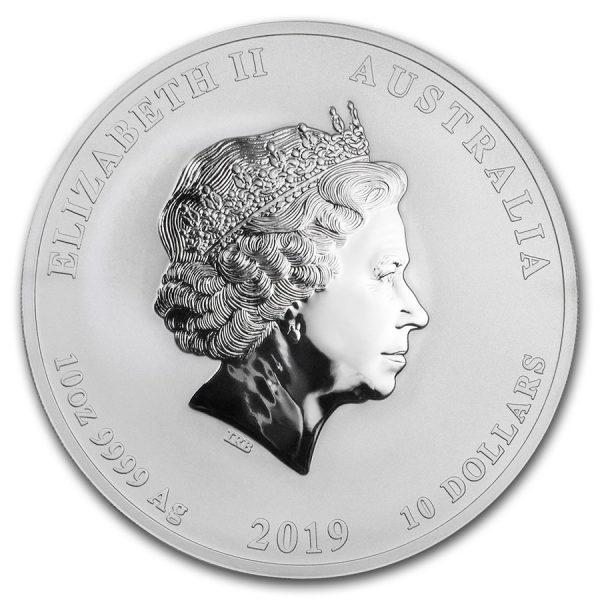 Lunar Pig 10 troy ounce zilveren munt 2019