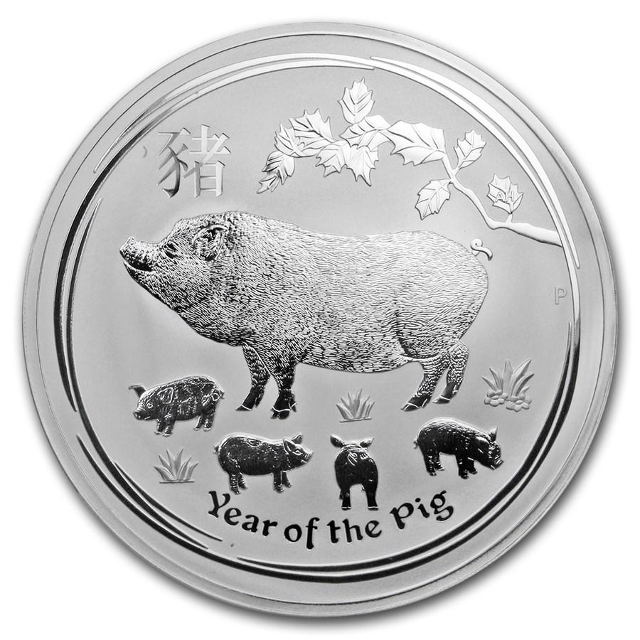 Lunar Pig 1 kilo zilveren munt 2019
